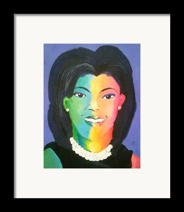 Michelle Obama Color Effect Framed Print By Kendya Battle