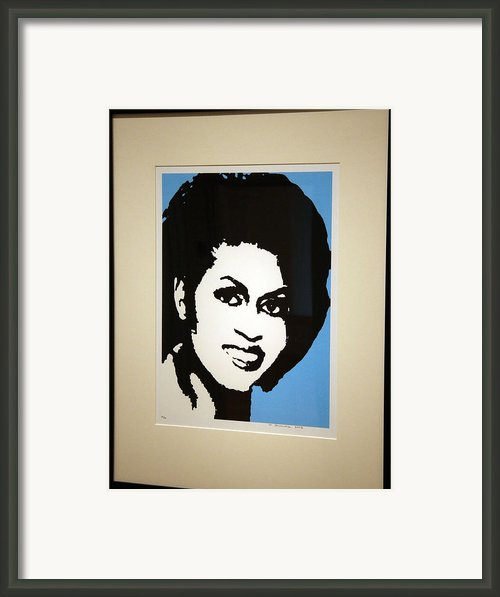 Michelle Obama Framed Print By Cora Wandel