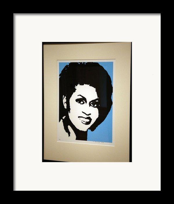 Michelle Obama Framed Print By Cora Wandel
