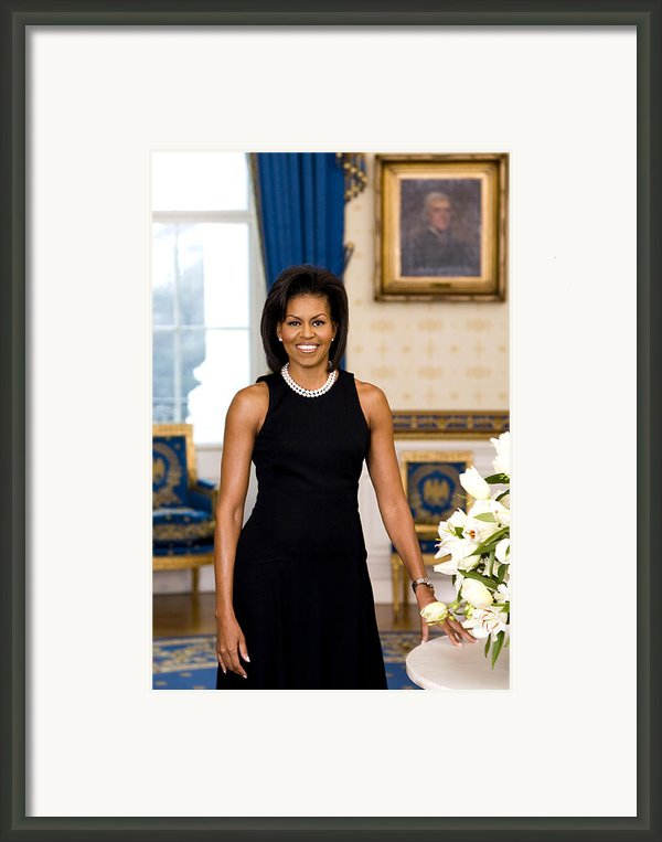 Michelle Obama Framed Print By Official White House Photo
