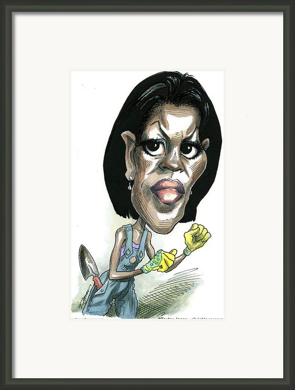 Michelle Obama Framed Print By Taylor Jones
