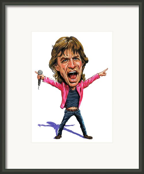 Mick Jagger Framed Print By Art