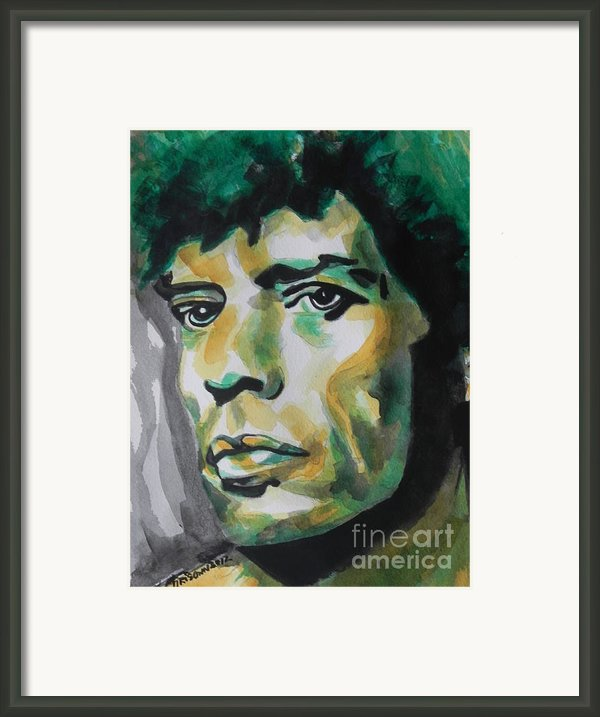 Mick Jagger Framed Print By Chrisann Ellis