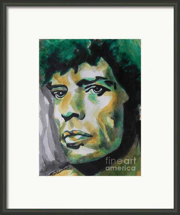 Mick Jagger Framed Print By Chrisann Ellis