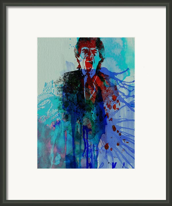 Mick Jagger Framed Print By Irina  March