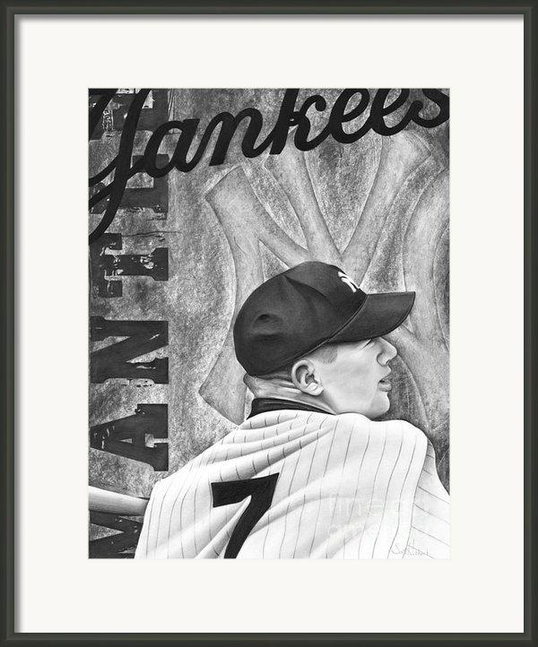 Mickey Mantle Framed Print By Scott  Hubbert