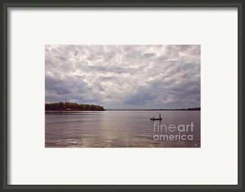 Mid Lake Storm Framed Print By Scott Pellegrin