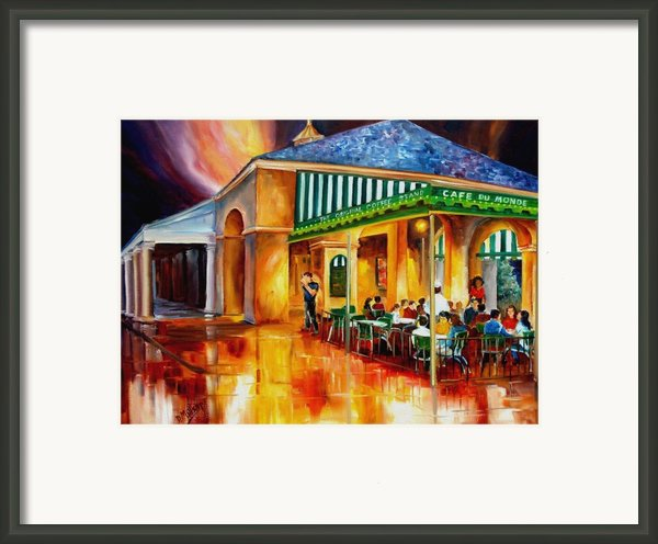 Midnight At The Cafe Du Monde Framed Print By Diane Millsap