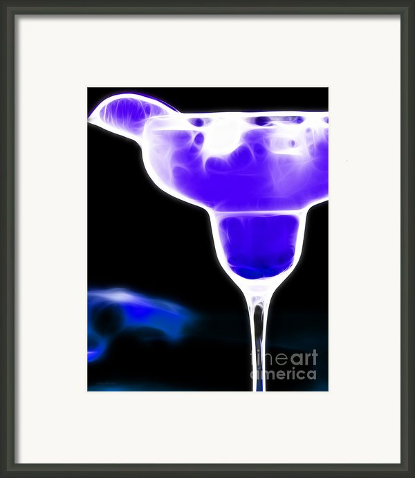 Midnight Blue Margarita Breeze Framed Print By Wingsdomain Art And Photography