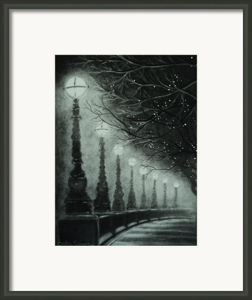 Midnight Dreary Framed Print By Carla Carson