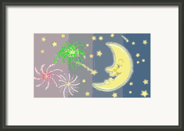 Midnight Fireworks Framed Print By J L Meadows