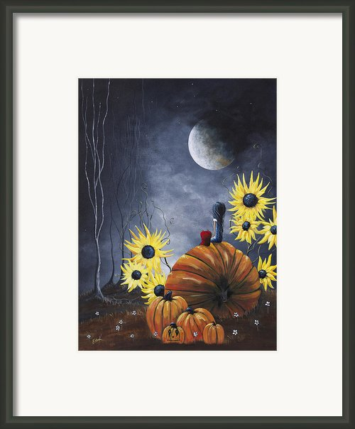 Midnight In The Pumpkin Patch By Shawna Erback Framed Print By Shawna Erback