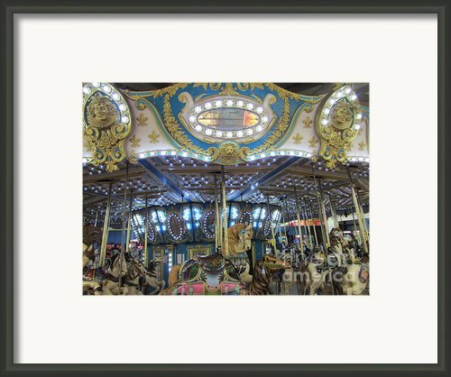 Midnight On A Carousel Ride Framed Print By Susan Carella
