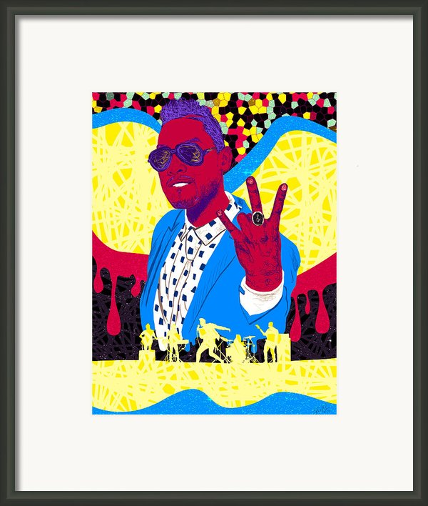 Miguel Drawing In Lines Framed Print By Kenal Louis