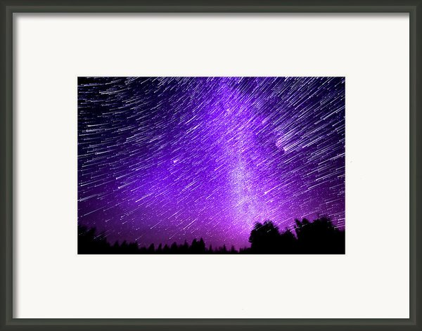 Milky Way And Star Trails Framed Print By Aaron Priest