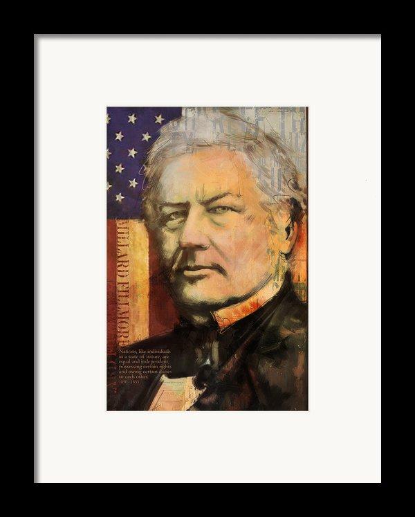 Millard Fillmore Framed Print By Corporate Art Task Force