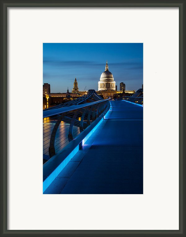 Millenium Bridge Blue Hour I Framed Print By Adam Pender