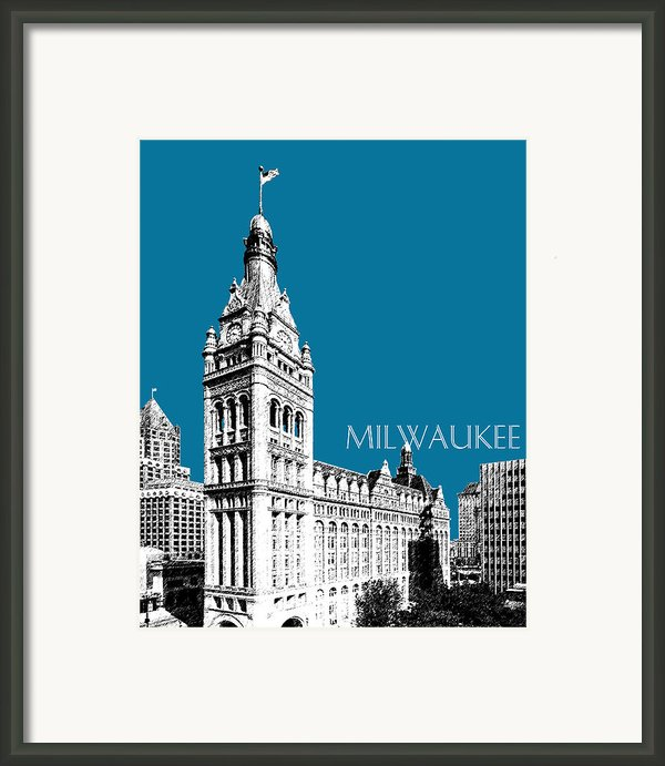 Milwaukee Skyline City Hall - Steel Framed Print By Db Artist