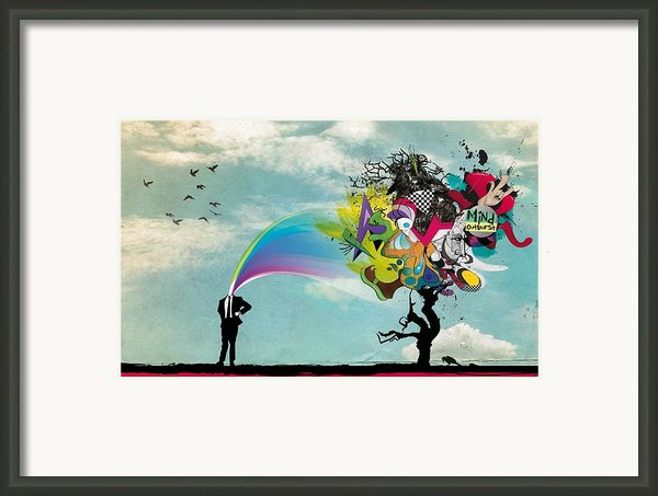 Mind Outburst Framed Print By Sanely Great