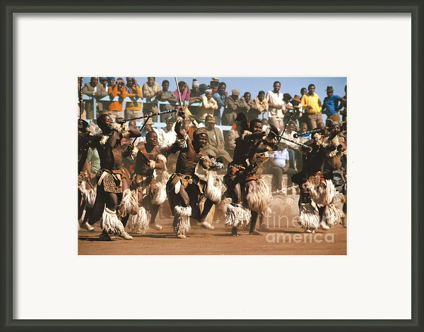 Mine Dancers South Africa Framed Print By Susan Mccartney