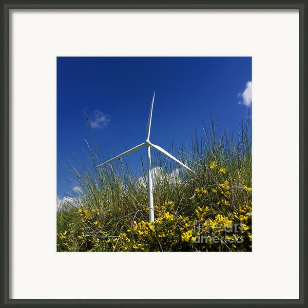 Miniature Wind Turbine In Nature Framed Print By Bernard Jaubert