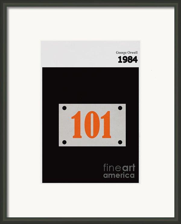 Minimalist Book Cover George Orwell 1984 Framed Print By Budi Satria Kwan