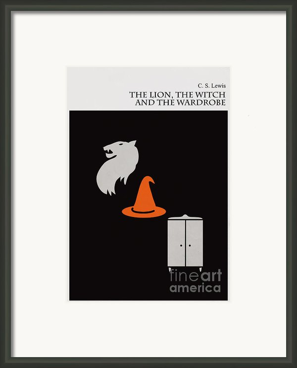 Minimalist Book Cover The Lion The Witch And The Wardrobe Framed Print By Budi Satria Kwan