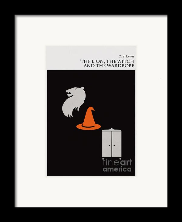 Minimalist Book Cover The Lion The Witch And The Wardrobe Framed Print By Budi Kwan