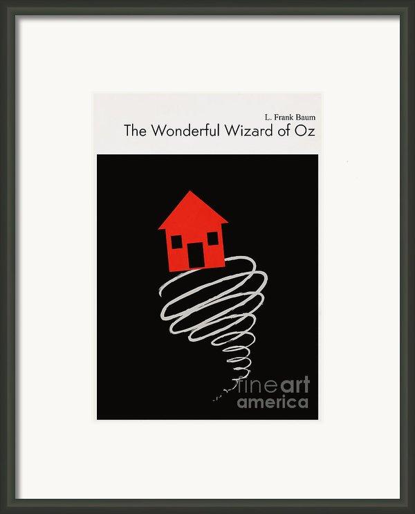 Minimalist Book Cover The Wonderful Wizard Of Oz Framed Print By Budi Satria Kwan
