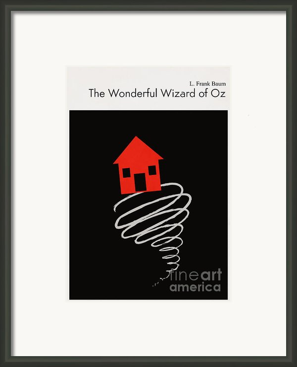 Minimalist Book Cover The Wonderful Wizard Of Oz Framed Print By Budi Satria Kwan