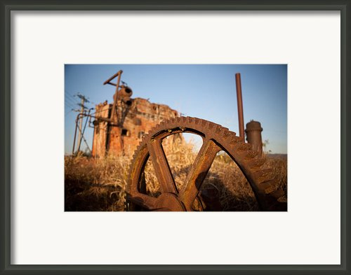Mining Artefacts Historical Antique Machinery Framed Print By Dirk Ercken