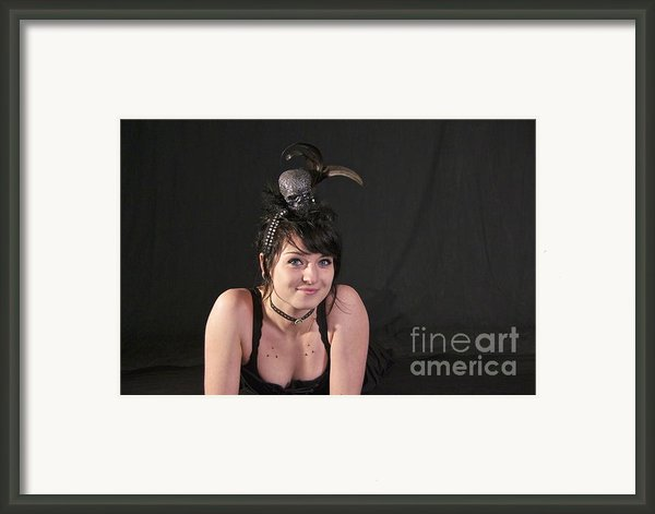 Misha In Black 3 Framed Print By Sean Griffin