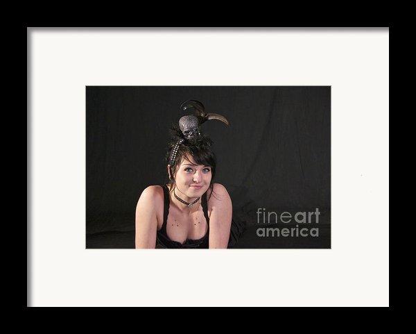 Misha In Black 3 Framed Print By Sean Griffin