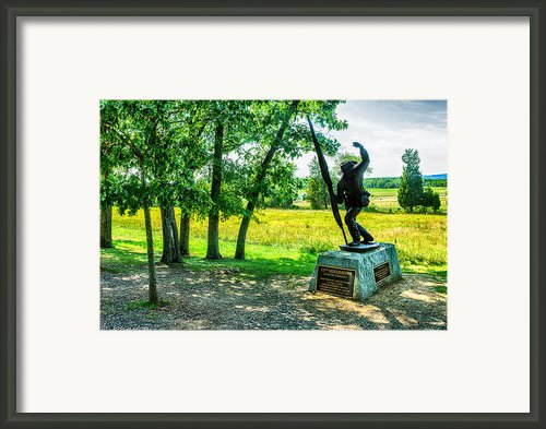 Mississippi Memorial Gettysburg Battleground Framed Print By Nadine And Bob Johnston