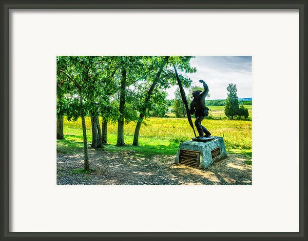Mississippi Memorial Gettysburg Battleground Framed Print By  Bob And Nadine Johnston