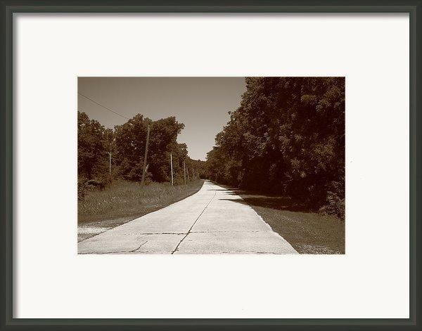 Missouri Route 66 2012 Sepia. Framed Print By Frank Romeo