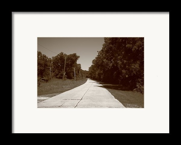 Missouri Route 66 2012 Sepia. Framed Print By Frank Romeo