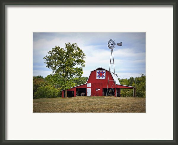 Missouri Star Quilt Barn Framed Print By Cricket Hackmann