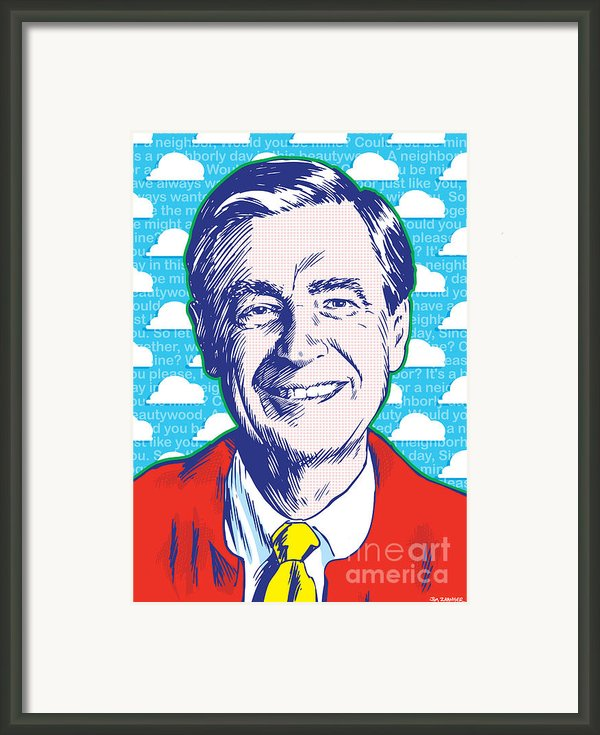 Mister Rogers Pop Art Framed Print By Jim Zahniser