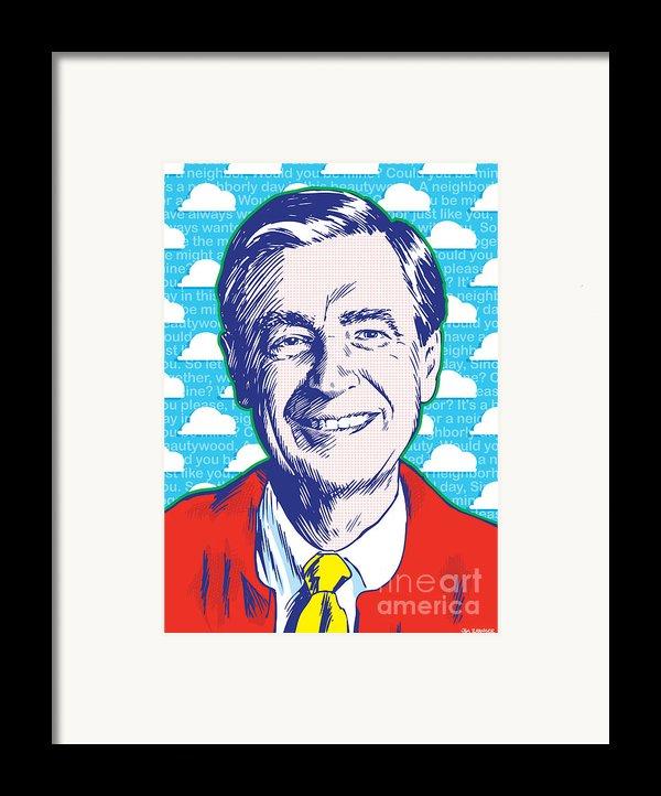 Mister Rogers Pop Art Framed Print By Jim Zahniser