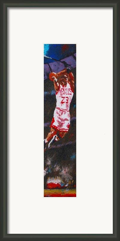 Mj Framed Print By Pete Lopez