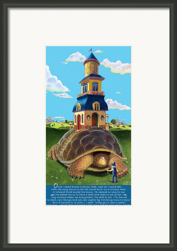 Mobile Home With Whimsical Poem Framed Print By J L Meadows