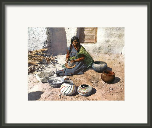 Moki Indian Potter 1899 Framed Print By Unknown