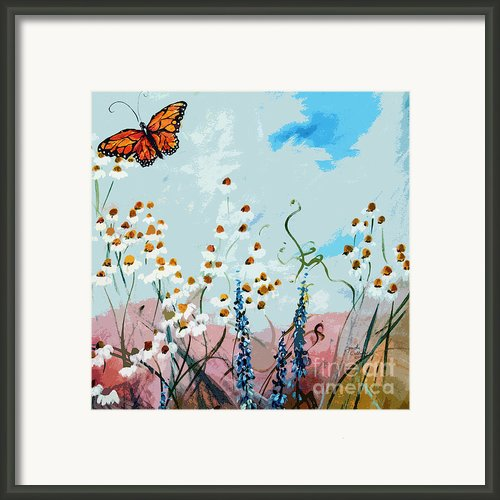 Monarch Butterfly Modern Art Framed Print By Ginette Callaway