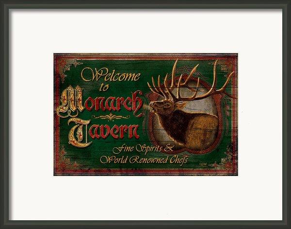 Monarch Tavern Framed Print By Jq Licensing