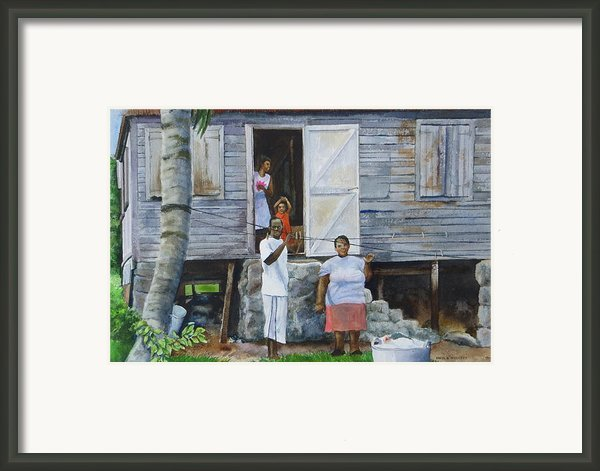 Monday-washday Framed Print By Karol Wyckoff