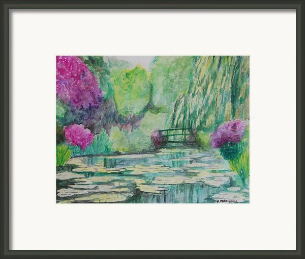 Monet Garden Framed Print By Marcello Martinho