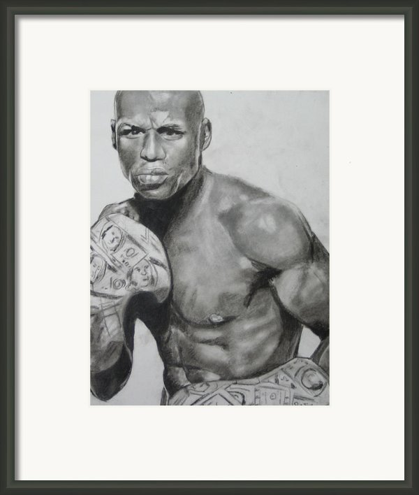Money Mayweather Framed Print By Aaron Balderas
