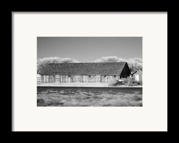 Montana Building Framed Print By Paul Bartoszek