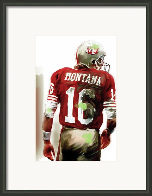 Montana  Joe Montana Framed Print By Iconic Images Art Gallery David Pucciarelli